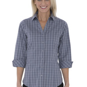 COAL HARBOUR TATTERSALL CHECK WOVEN LADIES' SHIRT